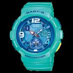 นาฬิกา คาสิโอ Casio Baby-G ANALOG-DIGITAL Beach Traveler series รุ่น BGA-190-3B สีเขียวน้ำทะเล