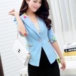 พรีออเดอร์ เสื้อสูท Blazer สีฟ้า มีไซด์ M/L/XL/XXL/XXXL