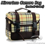 กระเป๋ากล้องแฟชั่น กล้อง Mirrorless กล้องคอมแพค ลายสก๊อตสีครีม Scott Cream (Pre Order)