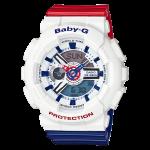 นาฬิกา Casio Baby-G White Tricolor series รุ่น BA-110TR-7A ของแท้ รับประกัน1ปี