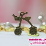 จี้โลหะ สีทองรมดำ รูปจักรยาน
