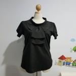 เสื้อ ผ้าไหมอิตาลี คอตลบ สีดำ ไซส์ XXL อก 50 นิ้ว