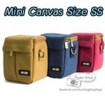 กระเป๋ากล้อง Mini Canvas Size SS A5000 A6000 G16 G15 G12 G1X G1XM2 J1 J2 J3 ฯลฯ