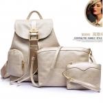 ขายดี! [สีขาว] กระเป๋าเป้สะพายหลัง Z931-3