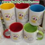 ตัวอย่างงานสกรีนแก้ว Safety Day
