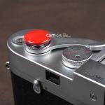 Soft Shutter Release ปุ่มใหญ่ นูนขึ้น สีเแดง สำหรับ Fuji X10 X20 X100 XE1 XE2 Leica ฯลฯ