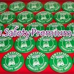 ตัวอย่างเข็มกลัด Certified Forklift Driver_Green 44 mm
