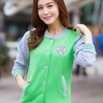 พรีออเดอร์ เสื้อกันหนาว/เสื้อแขนยาว สีเขียว มีไซด์ M/L/XL/XXL