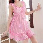 san511 ชุดนอนน่ารัก สีชมพู ซีทรู หวานน่ารัก เป็นสาวน้อยวัยกระเตาะ ในชั่วข้ามคืน