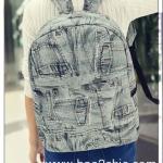 [สีที่1]กระเป๋าเป้สะพายหลัง Backpack แฟชั่นเกาหลีทั้งผู้ชายและผู้หญิง