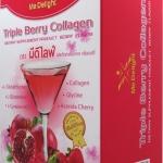 ผลติภัณฑ์เสริมอาหาร กลิ่นเบอร์รี่    triple berry collagen