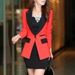 พรีออเดอร์ เสื้อสูท/blazer สีแดง มีไซด์ S/M/L/XL
