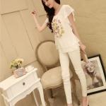 พรีออเดอร์ เสื้อผ้าชีฟอง สีขาว มีไซ์ M/L/XL/XXL