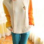 พรีออเดอร์ เสื้อกันหนาว/เสื้อแขนยาว/เสื้อไหมพรม(สีขาว) ไหล่ 39 ซม. อก 96 ซม. ยาว 63 ซม. แขนยาว 59 ซม.