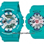 นาฬิกา คาสิโอ Casio G-Shock x Baby-G เซ็ตคู่รัก สีเทอร์ควอยซ์ รุ่น GA-110SN-3A x BA-110SN-3A Pair set ของแท้ รับประกัน 1 ปี