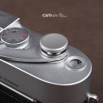 Soft Shutter Release ปุ่มใหญ่ เว้าลง สีเงิน กดง่ายสะดวก สำหรับ Fuji XT10 X10 X20 X30 X100 XE1 Leica ฯลฯ