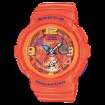 """นาฬิกา คาสิโอ Casio Baby-G ANALOG-DIGITAL Beach Traveler series รุ่น BGA-190-4B """"ส้มส้ม"""""""