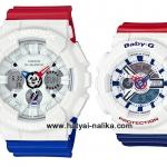 นาฬิกา คาสิโอ Casio G-Shock x Baby-G เซ็ตคู่รัก White Tricolor รุ่น GA-120TRM-7A x BA-110TR-7A Pair set ของแท้ รับประกัน 1 ปี