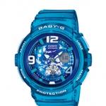 นาฬิกา คาสิโอ Casio Baby-G ANALOG-DIGITAL Beach Traveler series รุ่น BGA-190GL-2B สีพิเศษ น้ำเงินใส Blue Jelly