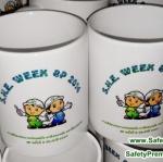 ตัวอย่างแก้ว S.H.E. WEEK สัปดาห์ความปลอดภัย อาชีวอนามัย และสิ่งแวดล้อม