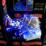ไฟประดับ 100 หัว สีฟ้า