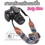 สายกล้องคล้องคอแฟชั่น ลาย Indy Blue อินดี้น้ำเงิน