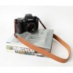 สายคล้องกล้องหนังแท้ cam-in Genuine Leather สีน้ำตาลอ่อน