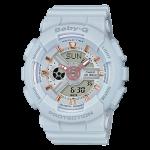 นาฬิกา Casio Baby-G Girl's Generation Gold Attractive Accent series รุ่น BA-110GA-8A (สีเทาควันบุหรี่/เทาอมฟ้า) ของแท้ รับประกัน1ปี