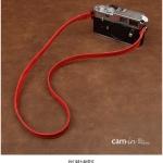 สายคล้องกล้องหนังแท้ รุ่น Plain Red สายกล้องคล้องคอสีแดง