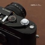Soft Shutter Release ปุ่มเว้าลง สีเงิน กดง่ายสะดวก สำหรับ Fuji XT10 X10 X20 X100 XE1 Leica ฯลฯ
