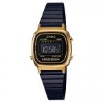 นาฬิกา คาสิโอ Casio STANDARD DIGITAL Vintage Black&Gold รุ่น LA670WEGB-1B (ไม่มีขายในไทย) ของแท้ รับประกัน 1 ปี