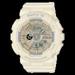 นาฬิกา Casio Baby-G Girl's Generation Gold Attractive Accent series รุ่น BA-110GA-7A2 (สีครีมเบจ) ของแท้ รับประกัน1ปี