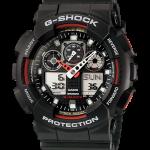 นาฬิกา คาสิโอ Casio G-Shock Standard Analog-Digital Three-Eye Dial รุ่น GA-100-1A4 (3ตา ดำ-แดง)