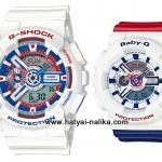 นาฬิกา คาสิโอ Casio G-Shock x Baby-G เซ็ตคู่รัก White Tricolor รุ่น GA-110TR-7A x BA-110TR-7A Pair set ของแท้ รับประกัน 1 ปี