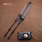 สายคล้องกล้องเส้นเล็กปรับสายสั้นยาวได้ Cam-in รุ่น Ninja สีเทา 25 mm