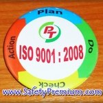 ตัวอย่างเข็มกลัด ISO9001 PDCA 58mm