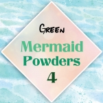 ผงเกร็ดนางเงือก Mermaid Powder #4 Green สีเหลือบเขียว