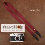 สายกล้องคล้องคอ cam-in สีพื้นเส้นเล็ก สีม่วง แบบห่วง 25 mm