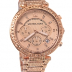 นาฬิกา Michael Kors ไมเคิล คอร์ รุ่น MK5663 Uptown Glam Parker Chronograph Rose Gold-Tone Ladies Watch