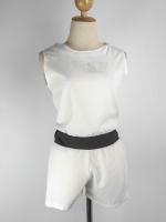 ชุด 2 ชิ้น ผ้าใยสังเคราะห์ เสื้อแขนกุด + กางเกงขาสั้น