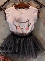 ชุดเสื้อ+กระโปรงเด็กหญิง PL401