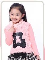 เสื้อกันหนาวสีชมพูเด็กโต C94