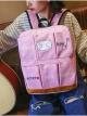 กระเป๋าเป้สะพายหลังกันน้ำ Z1011 สีชมพู