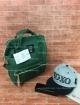 [สีเขียวเข้ม] กระเป๋าเป้ Anello สะพายหลัง เพิ่มซิปด้านหลัง