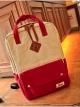 กระเป๋าเป้สะพายหลังกันน้ำ Z1010 สีขาวสลับแดง
