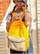 กระเป๋าเป้สะพายหลังกันน้ำ Z1012 สีเหลือง
