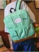 กระเป๋าเป้สะพายหลังกันน้ำ Z1011 สีเขียวอ่อน