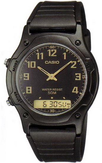 นาฬิกา คาสิโอ Casio STANDARD ANALOG-DIGITAL รุ่น AW-49H-1B