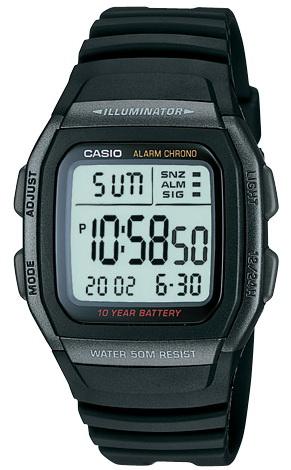นาฬิกา คาสิโอ Casio 10 YEAR BATTERY รุ่น W-96H-1B