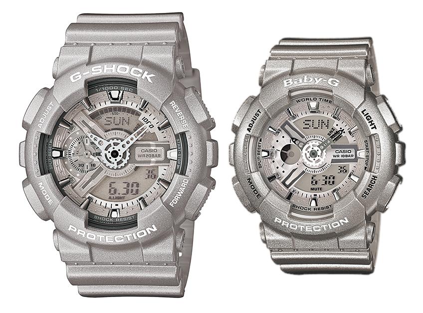 นาฬิกา คาสิโอ Casio G-Shock SETคู่รัก รุ่น GA-110BC-8&BA-110-8 Pair set
